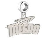 Toledo Rockets Natural Finish Logo Dangle Charm