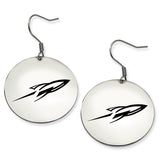 Toledo Rockets Stainless Steel Disc Earrings