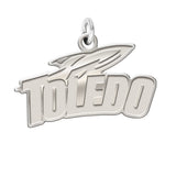 Toledo Rockets Sterling Silver Natural Finish Charm