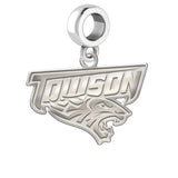 Towson Tger Natural Finish Logo Dangle Charm
