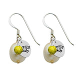 Towson Tigers Color and Freshwater Pearl Earrings