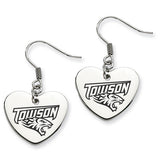 Towson Tigers Heart Drop Earrings