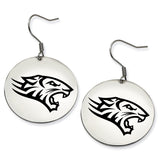 Towson Tigers Stainless Steel Disc Earrings