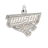 Towson Tigers Sterling Silver Natural Finish Charm