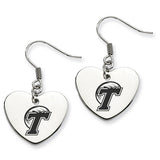 Tulane Green Wave Heart Drop Earrings
