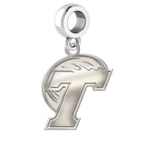 Tulane Green Wave Natural Finish Logo Dangle Charm