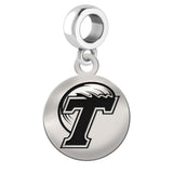 Tulane Green Wave Round Drop Charm