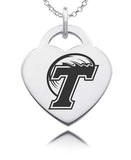 Tulane Green Wave Sterling Silver Heart Charm