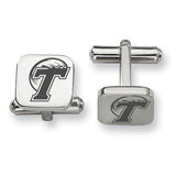 Tulane Green Wave Stainless Steel Cufflinks