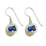 Tulsa Golden Hurricane Color and Freshwater Pearl Earrings