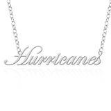Tulsa Golden Hurricane Sterling Silver Cutout Script Necklace