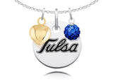 Tulsa Golden Hurricane Necklace with Charm Accents