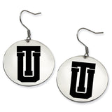 Tulsa Golden Hurricane Stainless Steel Disc Earrings