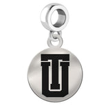 Tulsa Golden Hurricane Round Drop Charm