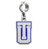 Tulsa Golden Hurricane Silver Logo and School Color Drop Charm