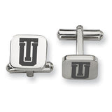 Tulsa Golden Hurricane Stainless Steel Cufflinks