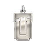 Tulsa Golden Hurricane Sterling Silver Natural Finish Charm