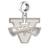 Valdosta State Blazers Natural Finish Logo Dangle Charm