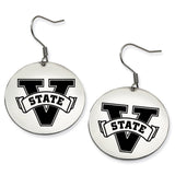 Valdosta State Blazers Stainless Steel Disc Earrings