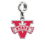 Valdosta State Blazers Silver Logo and School Color Drop Charm