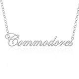 Vanderbilt Commodores Sterling Silver Cutout Script Necklace