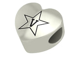 Vanderbilt Commodores Heart Bead