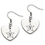Vanderbilt Commodores Heart Drop Earrings