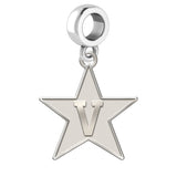 Vanderbilt Commodores Natural Finish Logo Dangle Charm