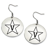 Vanderbilt Commodores Stainless Steel Disc Earrings