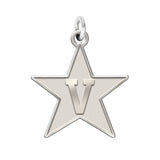 Vanderbilt Commodores Sterling Silver Natural Finish Charm