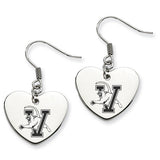 Vermont Catamounts Heart Drop Earrings