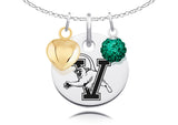 Vermont Catamounts Necklace with Charm Accents