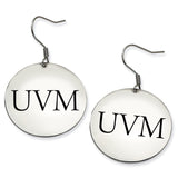 Vermont Catamounts Stainless Steel Disc Earrings