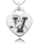 Vermont Catamounts Sterling Silver Heart Charm