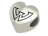 Wayne State Warriors Heart Bead