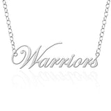 Wayne State Warriors Sterling Silver Cutout Script Necklace