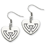 Wayne State Warriors Heart Drop Earrings