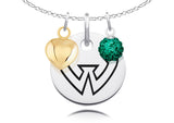 Wayne State Warriors Necklace with Charm Accents