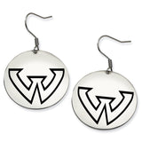 Wayne State Warriors Stainless Steel Disc Earrings
