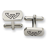 Wayne State Warriors Rectangular Cufflinks
