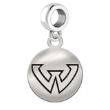 Wayne State Warriors Round Drop Charm