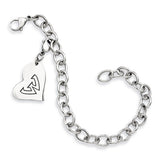 Wayne State Warriors Stainless Heart Bracelet