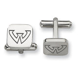 Wayne State Warriors Stainless Steel Cufflinks