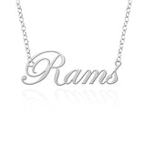 West Chester Golden Rams Sterling Silver Cutout Script Necklace