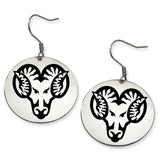 West Chester Golden Rams Stainless Steel Disc Earrings