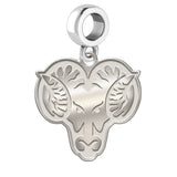 West Chester Rams Natural Finish Logo Dangle Charm