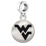 West Virginia Mountaineers Round Drop Charm