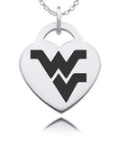 West Virginia Sterling Silver Heart Charm