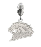 Western Michigan Broncos Natural Color Dangle Charm