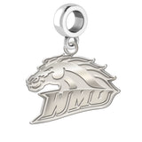 Western Michigan Broncos Natural Finish Logo Dangle Charm